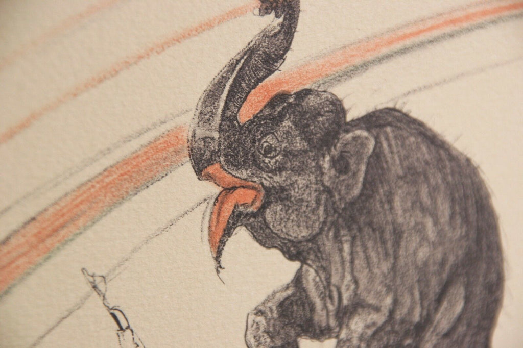 """Elephante in Liberte"" by Toulouse Lautrec from ""The Circus"" Portfolio 1990"