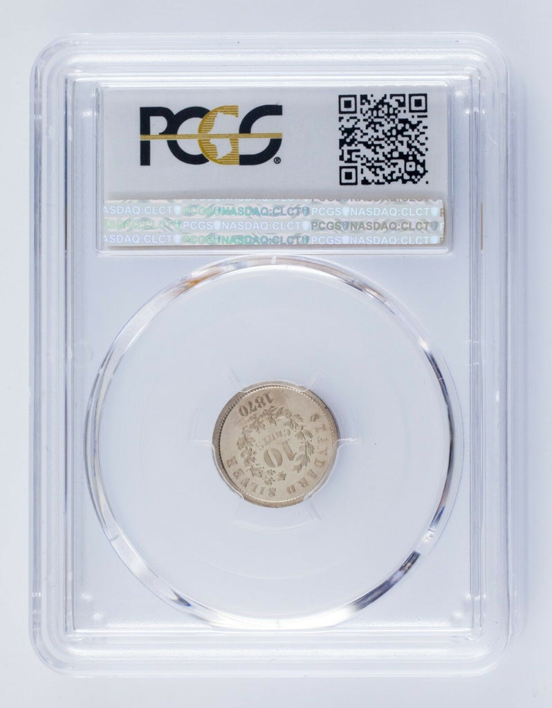 1870 Pattern Dime J-862 Graded by PCGS as PR65! Great Strike!