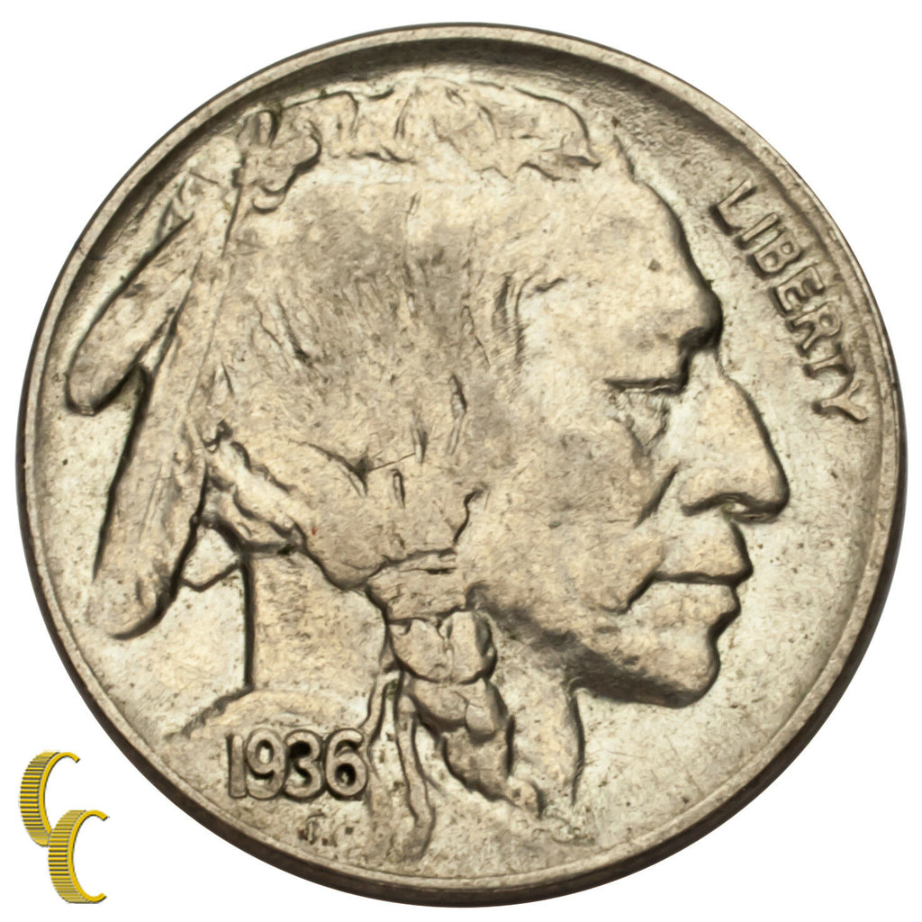 1936 Five Cent Buffalo Nickel 5C (Choice BU Condition) Nice Eye Appeal