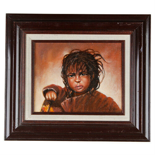 """Take Me Home Please"" By Anthony Sidoni 2007 Signed Oil on Canvas 15 3/4x13 3/4"