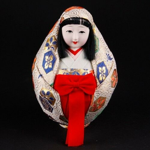 Vintage Japanese Egg Doll Roly Poly Pin Cushion Great Condition!