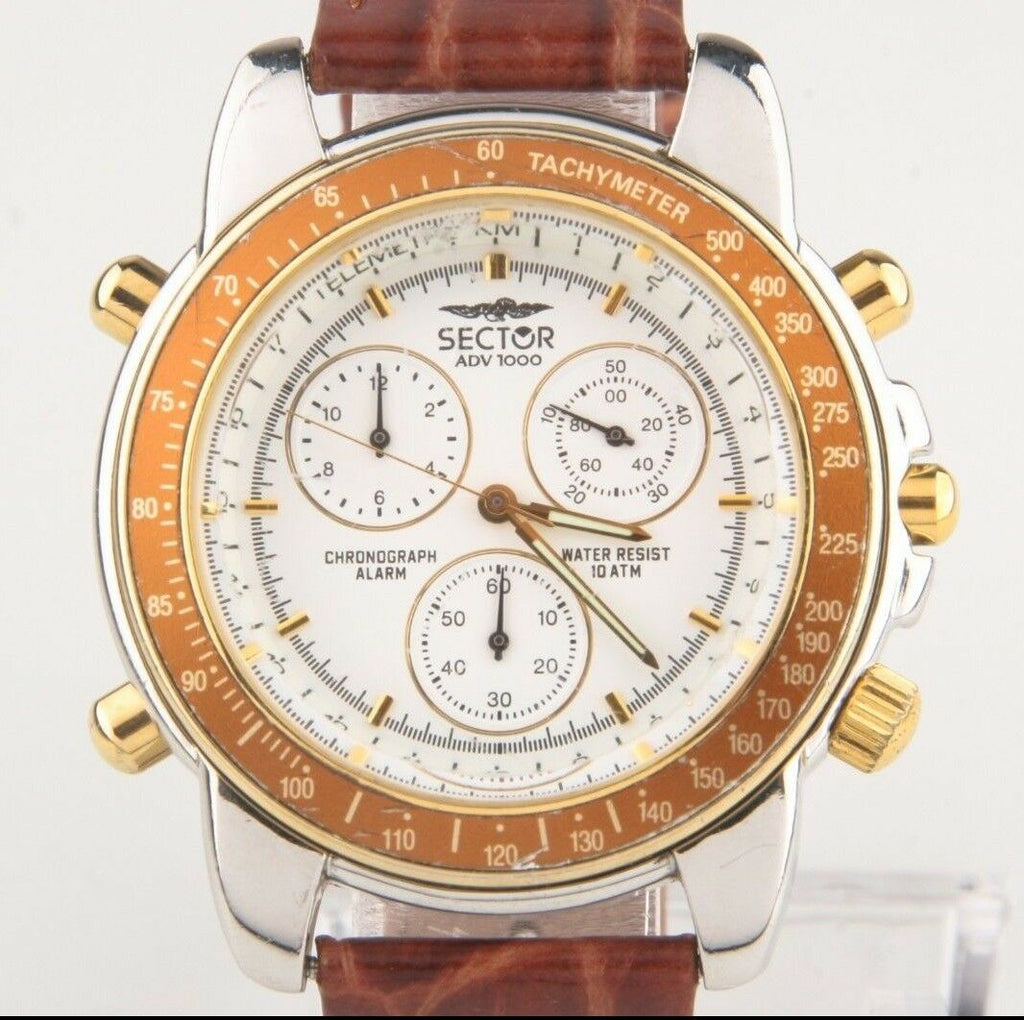 Men's Sector ADV 1000 Two Tone Chronograph, Alarm, Tachymeter Quartz watch