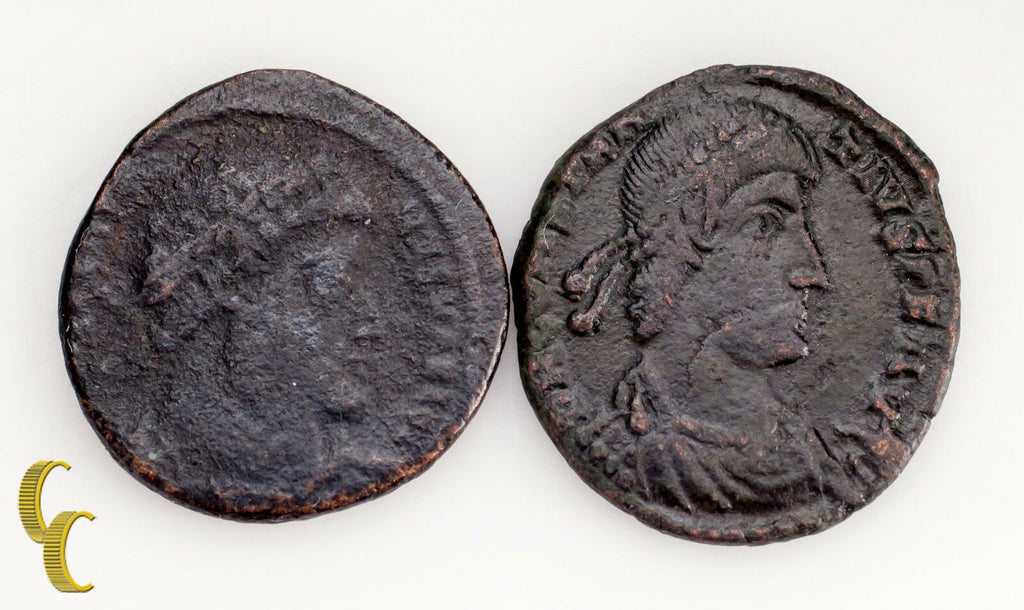 307-337  & 337-361 Ancient Coin Lot 2 Pcs Constantine the Great Billion Reduced