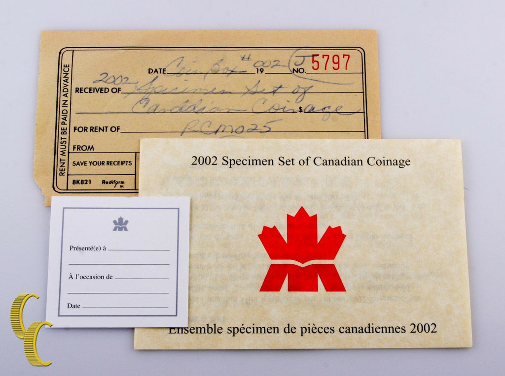 2002 Canada Specimen 7 pc Coin Set Royal Canadian Mint (BU) Condition