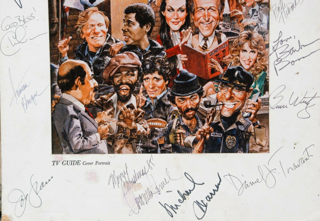 Authentic Hill Street Blues Cast Signed TV Guide Cover #1679 Print 15 Signatures