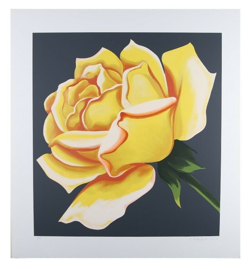 """Yellow Rose"" by Lowell Blair Nesbitt Signed Serigraph AP 28"" x 29"" w/ CoA"