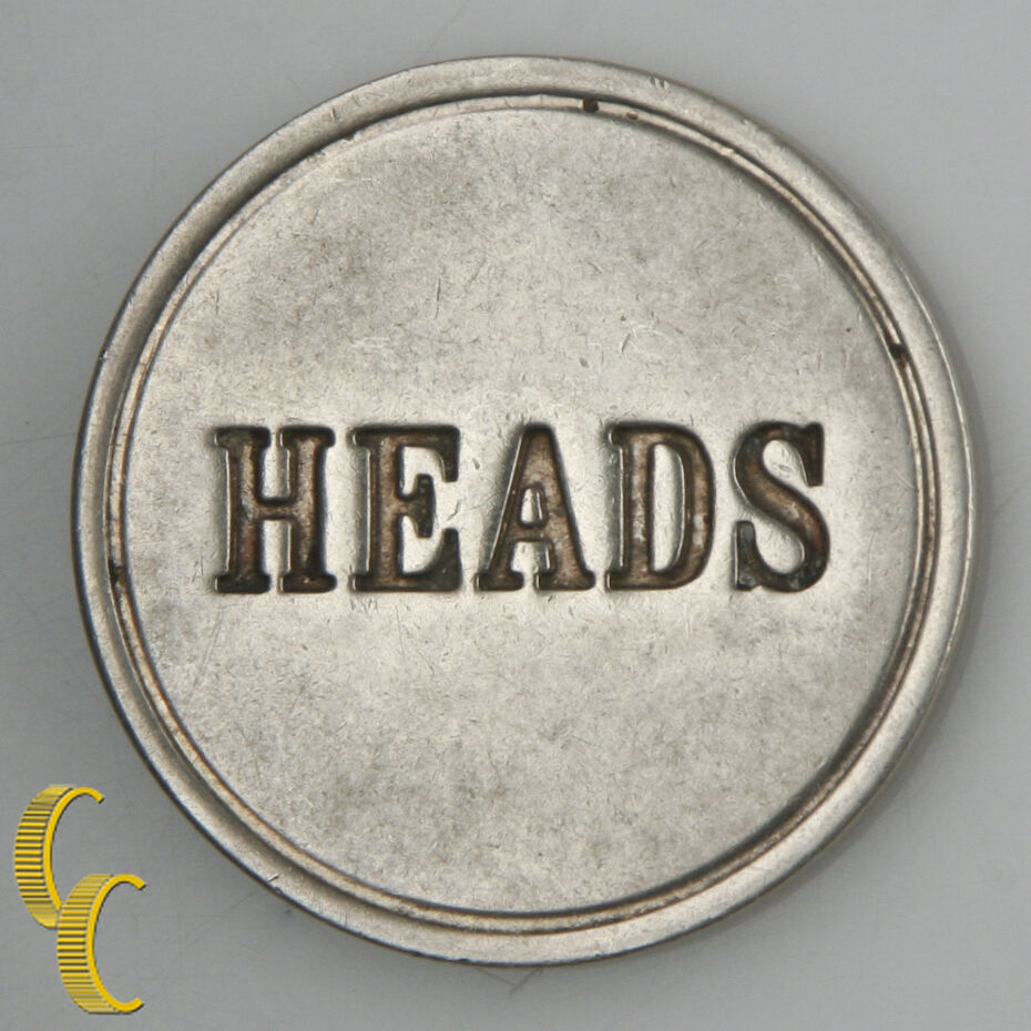 "Tiffany & Co. Sterling Silver ""Heads or Tails"" Silver Round Token Rare!"