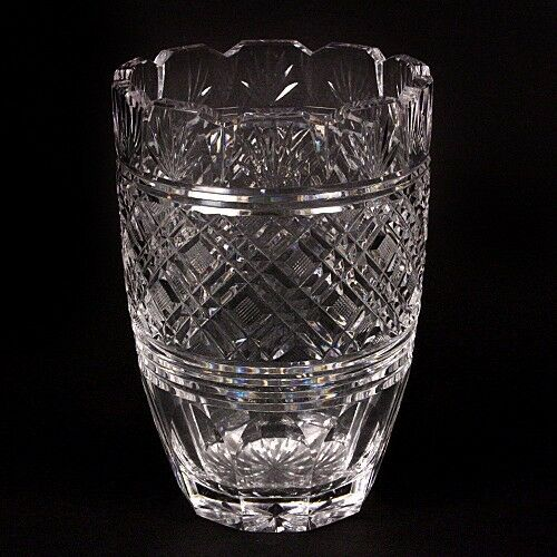 "Waterford Crystal 8"" Vase Beautiful Design, Fluted Edge, Great Condition!"