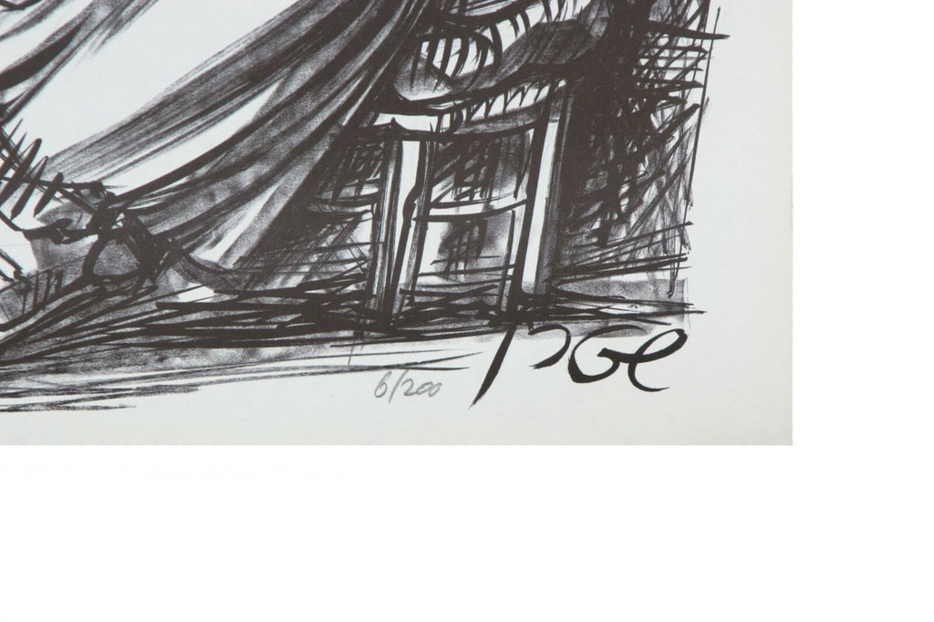 "Set of Four Black & White Lithographs by Yossi Stern 19.5"" x 13.75"" w/ CoA"