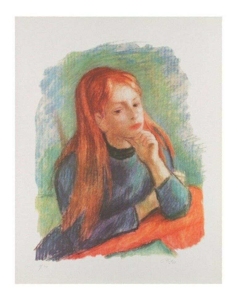 """Red Head"" by Phillip Lithograph on Paper Limited Edition of 100 26"" x 20.5"""