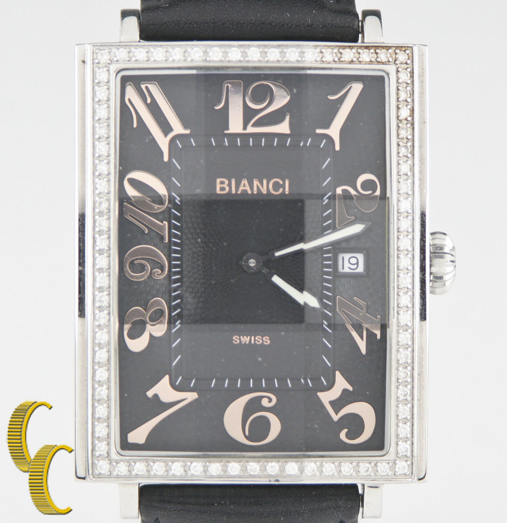 Roberto Bianci Stainless Steel Diamond Women's Watch Beautiful Gift!