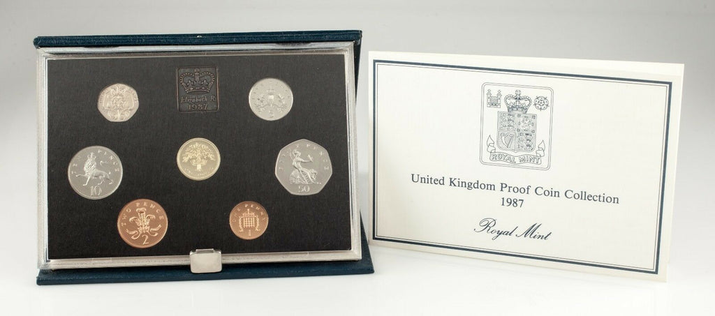 1986 Great Britain Proof Set Collection w/ Original COA and Case