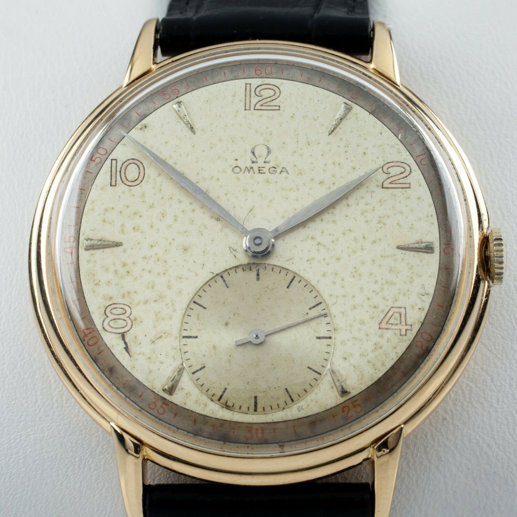 Omega Ω 18k Yellow Gold Men's Hand-Winding Watch Calibre 30T2PC 1940s