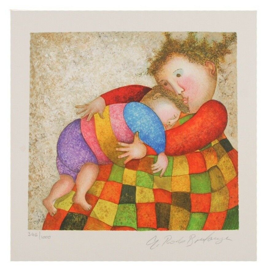 """Amour, Tendresse"" by Graciela Rodo Boulanger Lithograph on Paper LE of 1000"