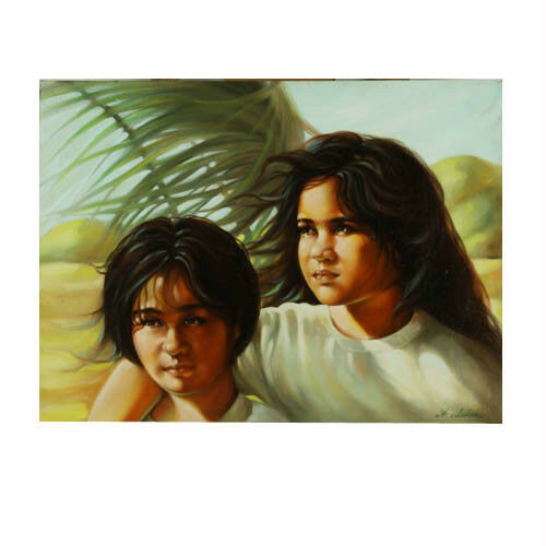 """Sisters"" By Anthony Sidoni Signed Oil Painting 18""x24"""