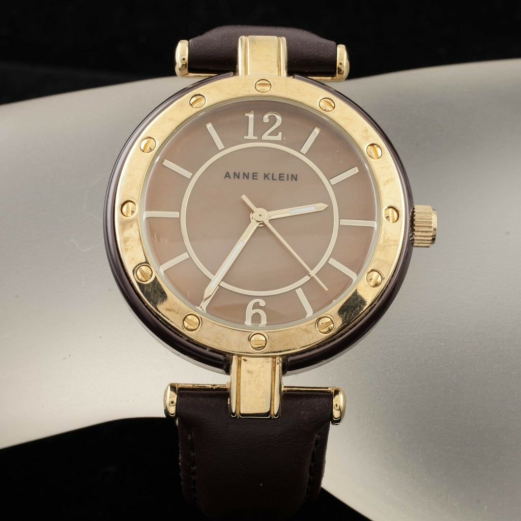 Anne Klein Gold Plated Quartz Watch Iridescent Dial 10/9994