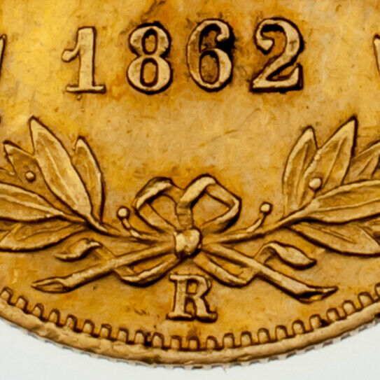 1853-R Italian Papal States 1 Scudo Gold Coin VF Condition KM #1358