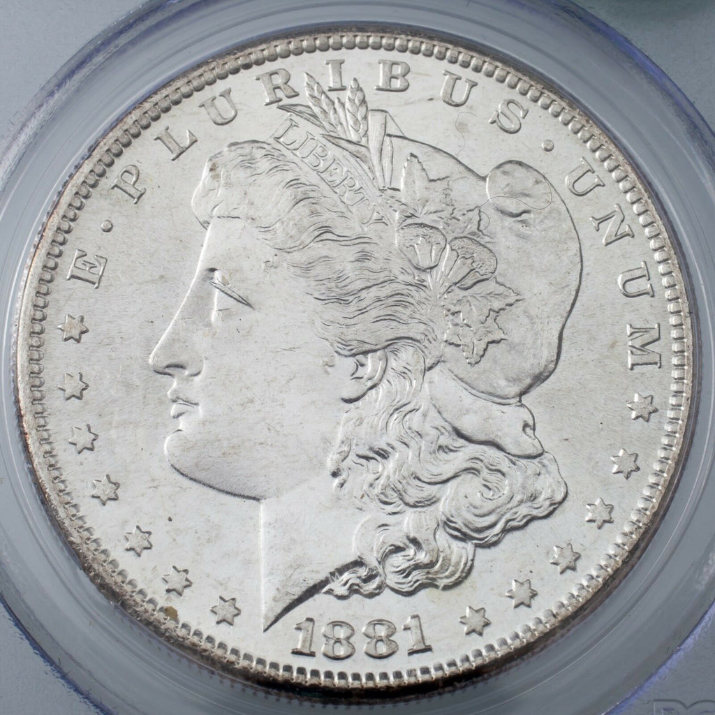 1881-S $1 Silver Morgan Dollar Graded by PCGS as MS64! Gorgeous Morgan!