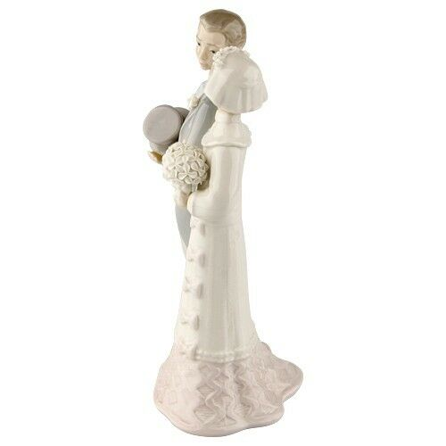"Lladro ""Bride & Groom"" #4808 Couple Getting Married Good Condition Retired Piece"