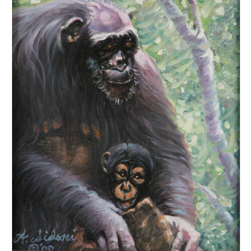 """Just Hangin' Around"" By Anthony Sidoni 2002 Signed Oil Painting 22""x20"""