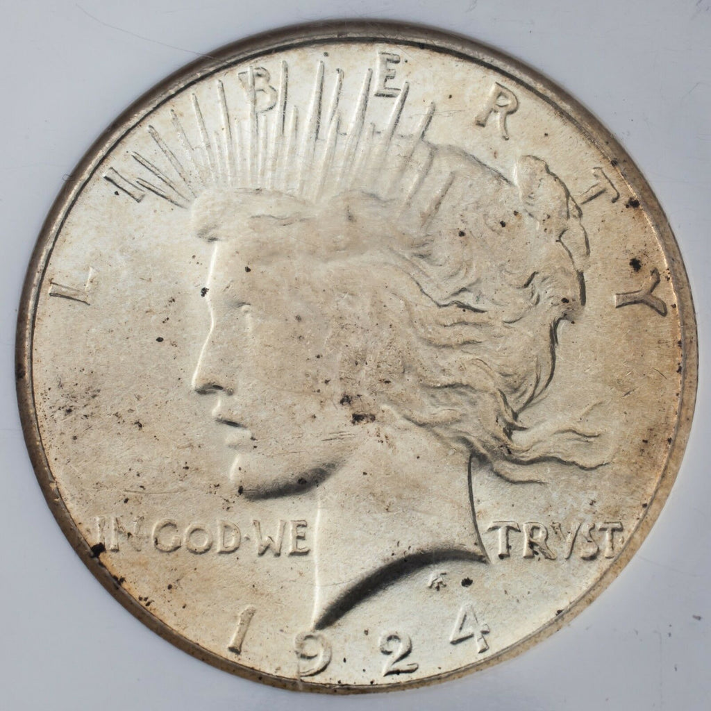 1924-S $1 Silver Peace Dollar Graded by NGC as MS-62! Gorgeous Peace Dollar!