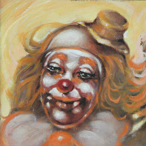 """Your Favorite Clown Is?"" By Anthony Sidoni 1998 Signed Oil Painting"
