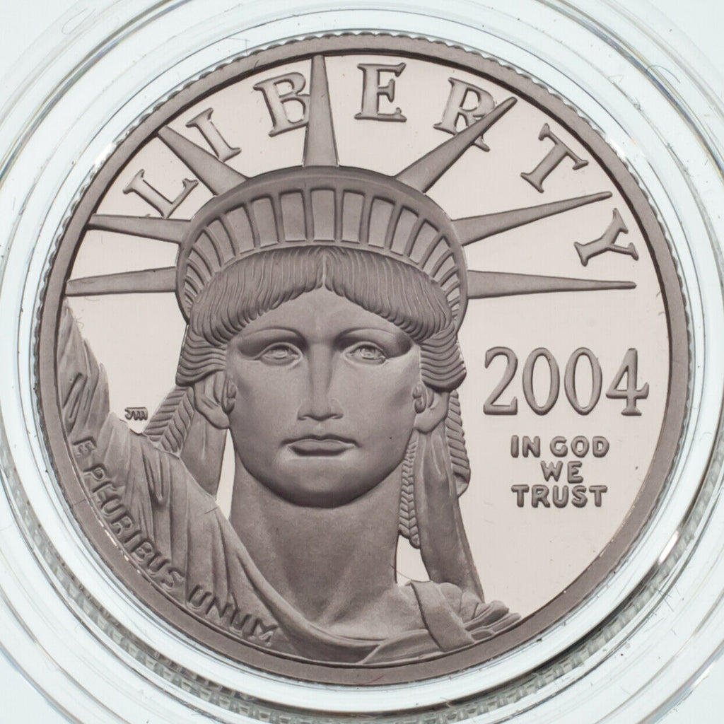 2004-W 1/4 Oz. Platinum Proof Eagle w/ Case and CoA Mintage: 5193