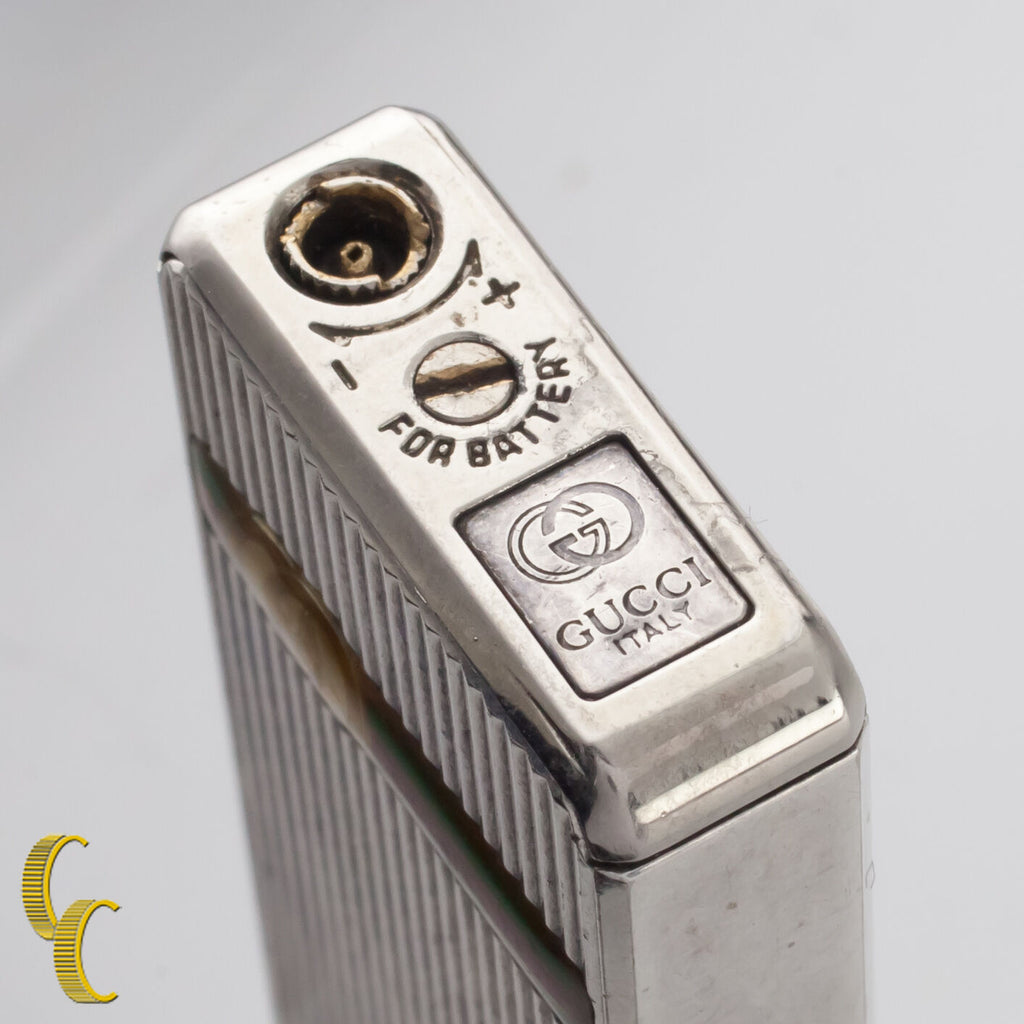 Vintage Gucci Silver Lighter with IC Sensor Nice Condition!