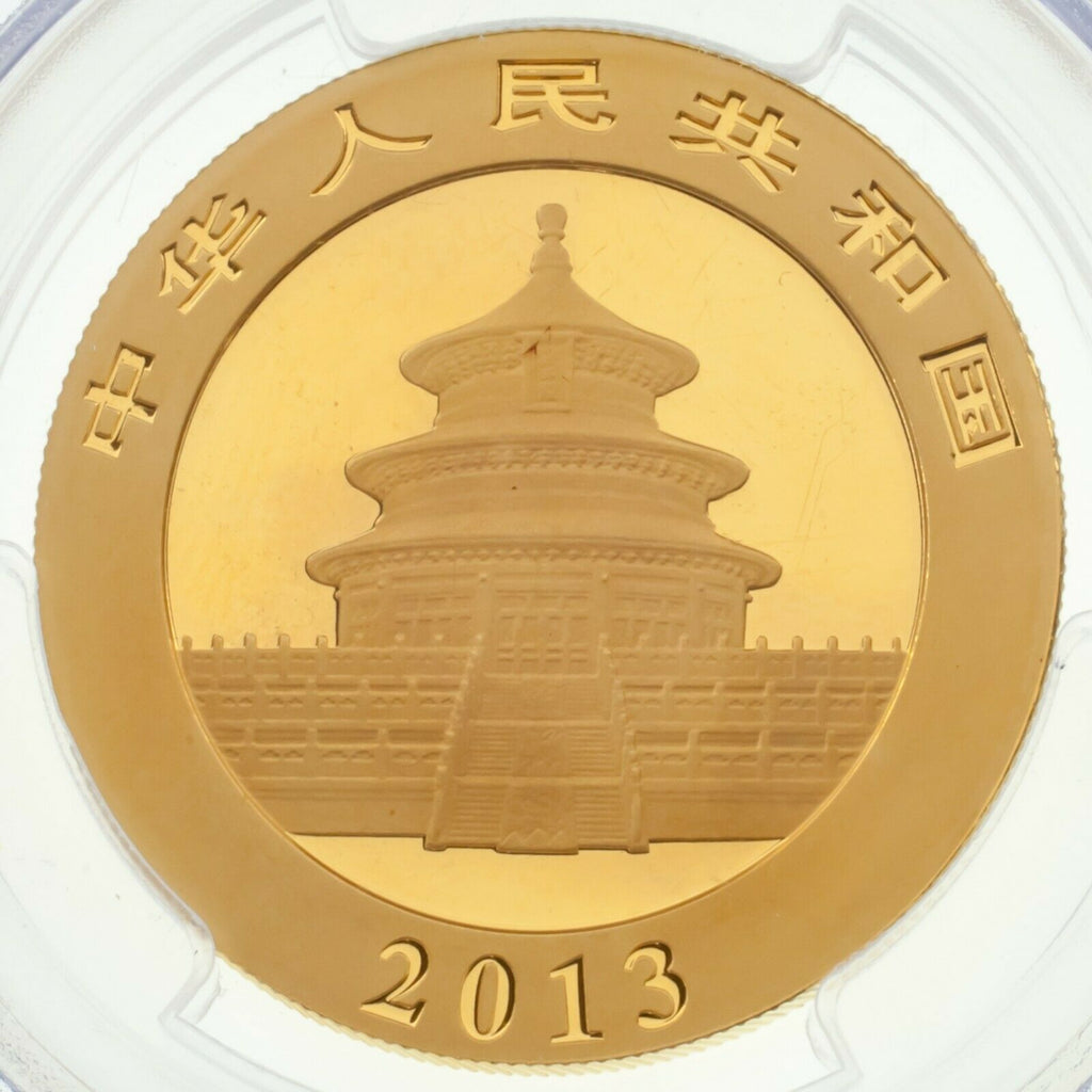 2013 China 1 Oz. Gold Panda 500 Yuan Graded by PCGS as MS69