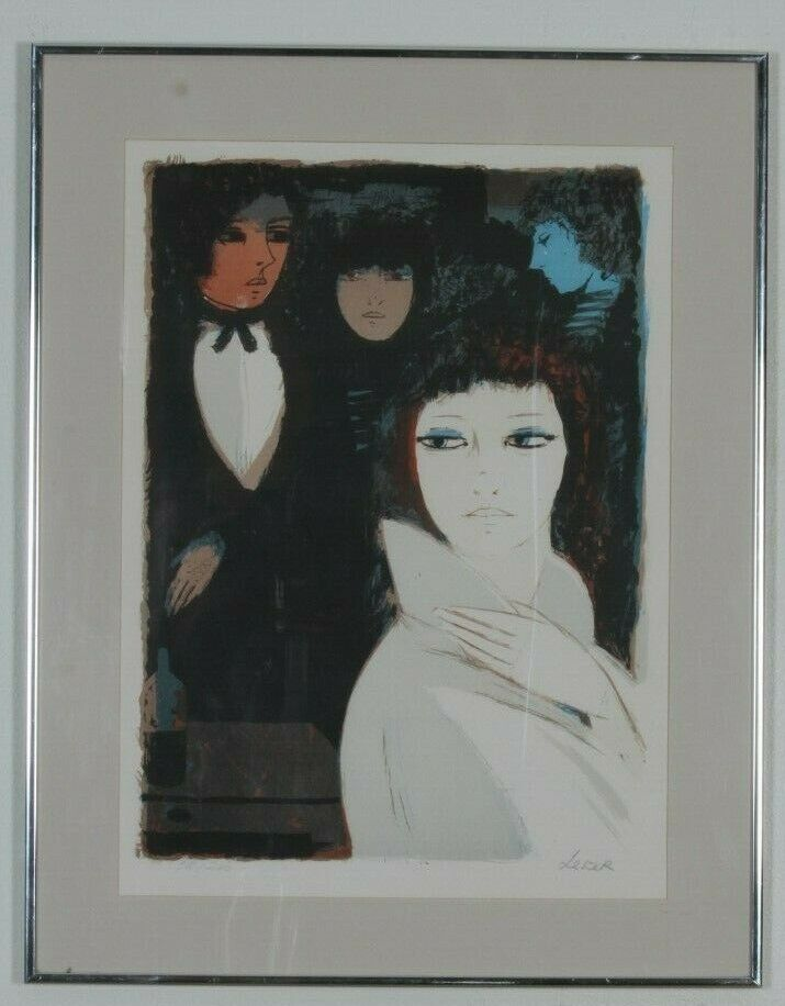 """Night Life"" Limited Edition 78/200 Lithograph by Charles Levier, Framed 29x23"""