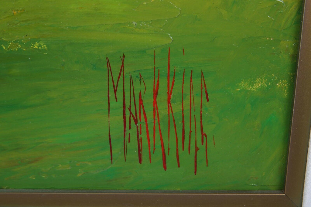 """Riviera #10"" by Mark King Oil on Canvas, Signed & Titled 1991 27"" x 34"""