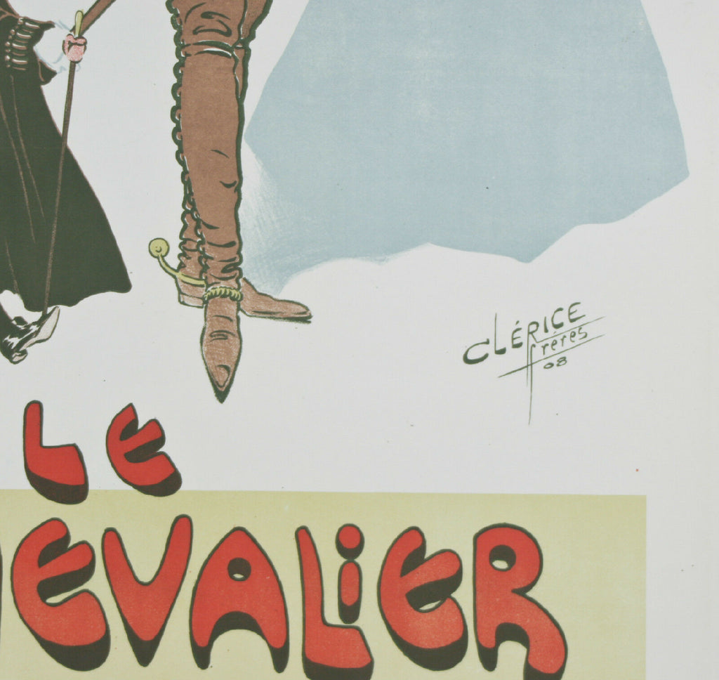 """Le Chevalier d'Eon"" By Clerice French Poster Lithograph on Paper 37""x26"""