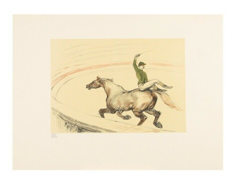 """Jockey"" by Toulouse Lautrec from ""The Circus"" Portfolio LE of 350 1990"