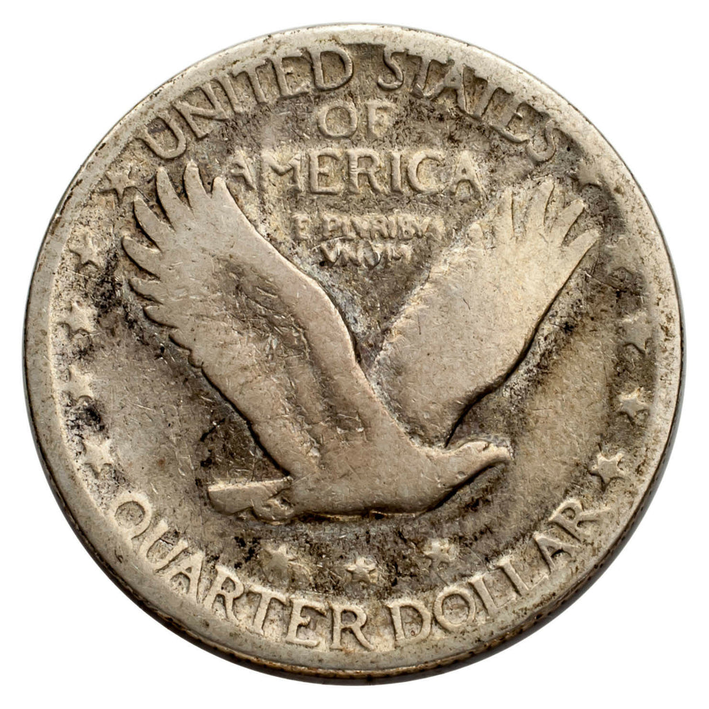 1927-S Silver Standing Liberty Quarter 25C (Good, G Condition)