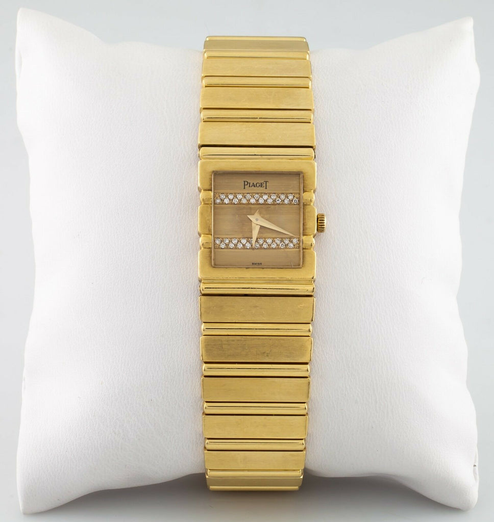 Piaget Polo Quartz Diamond Dial 18k Yellow Gold Women's Watch 458116