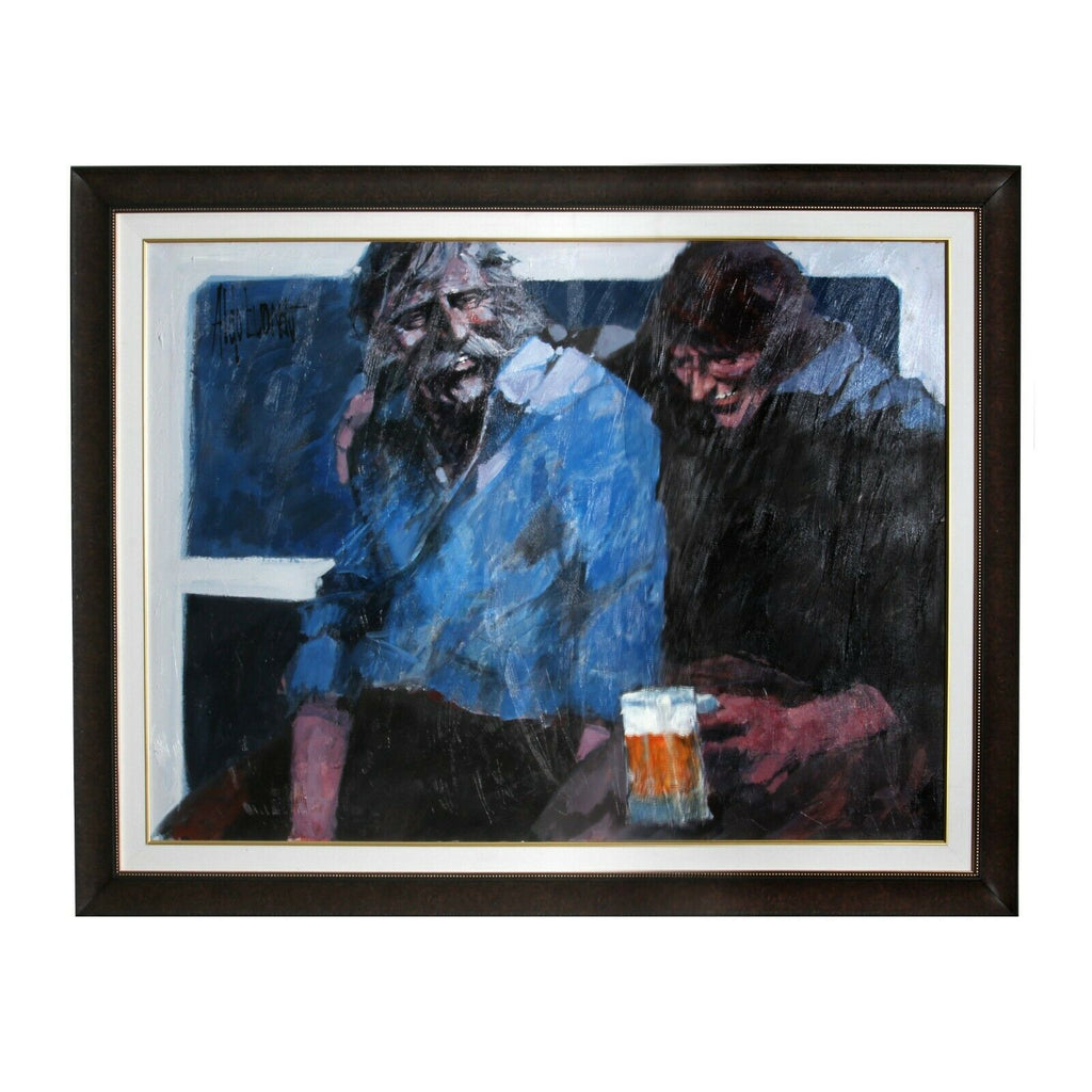 """Part of the Bar"" by Aldo Luongo Original Framed Painting Oil on Canvas"