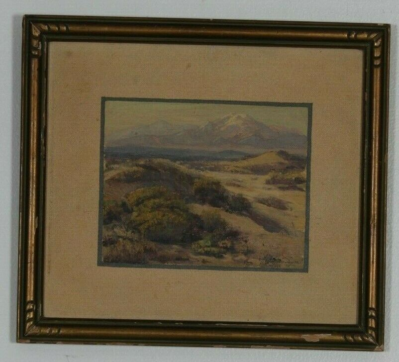 "Untitled (Desert Landscape) By Fred Grayson Sayre Signed Oil Painting 12""x14"""