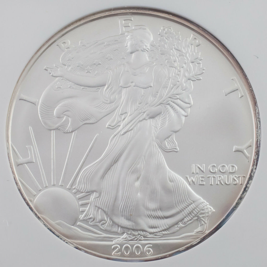 2006 $1 American Silver Eagle Graded by NGC as Gem Uncirculated First Strike