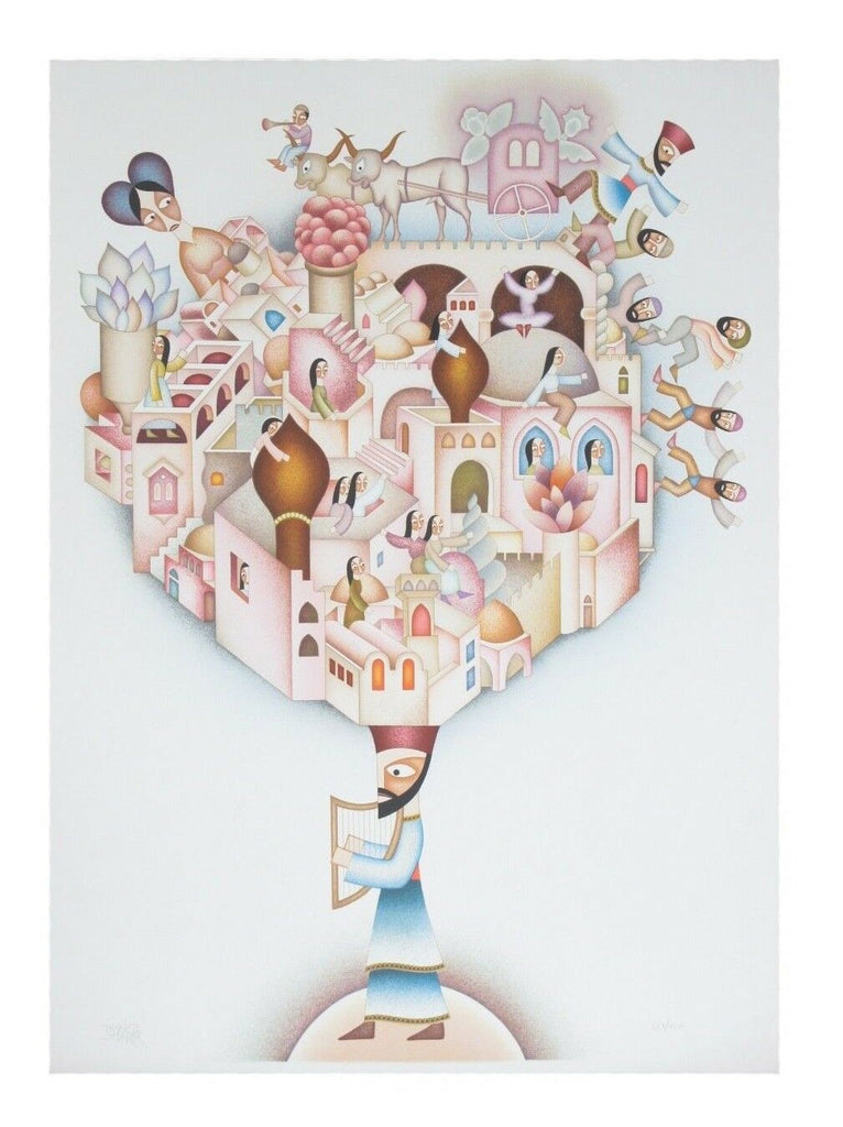 """City of David"" by David Sharir Lithograph on Paper Limited Edition of 400 & CoA"