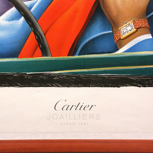 "CARTIER Joailliers Depuis 1847 Framed Advertisement Poster 41""x31"""