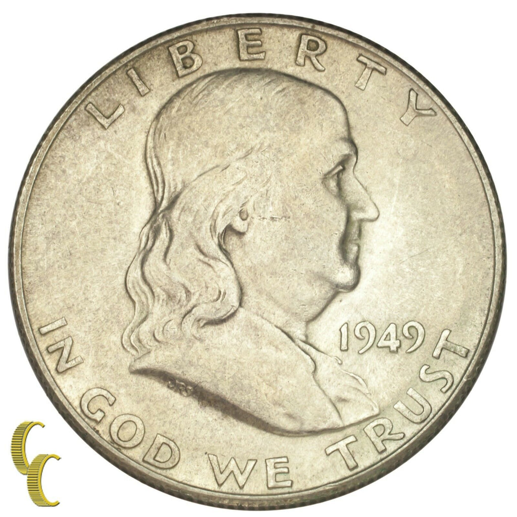 1949-S Silver Franklin Half Dollar 50C (Choice BU Condition)