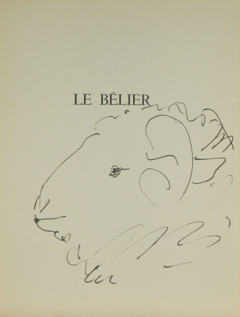 """Le Belier"" By Pablo Picasso Lithograph from Buffon Book 14 3/4""x11"""