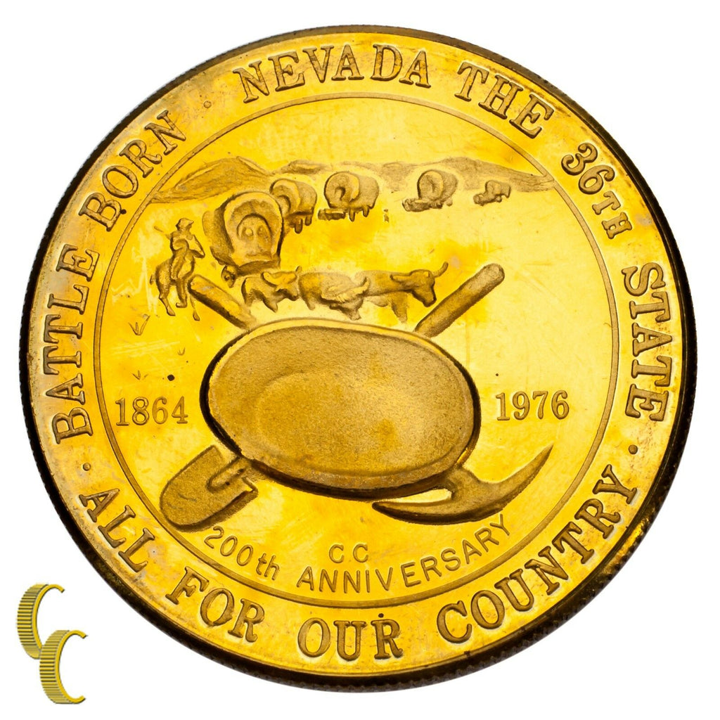 1976 Nevada Bicentennial Copper & Brass Commemorative Medals Battle Born