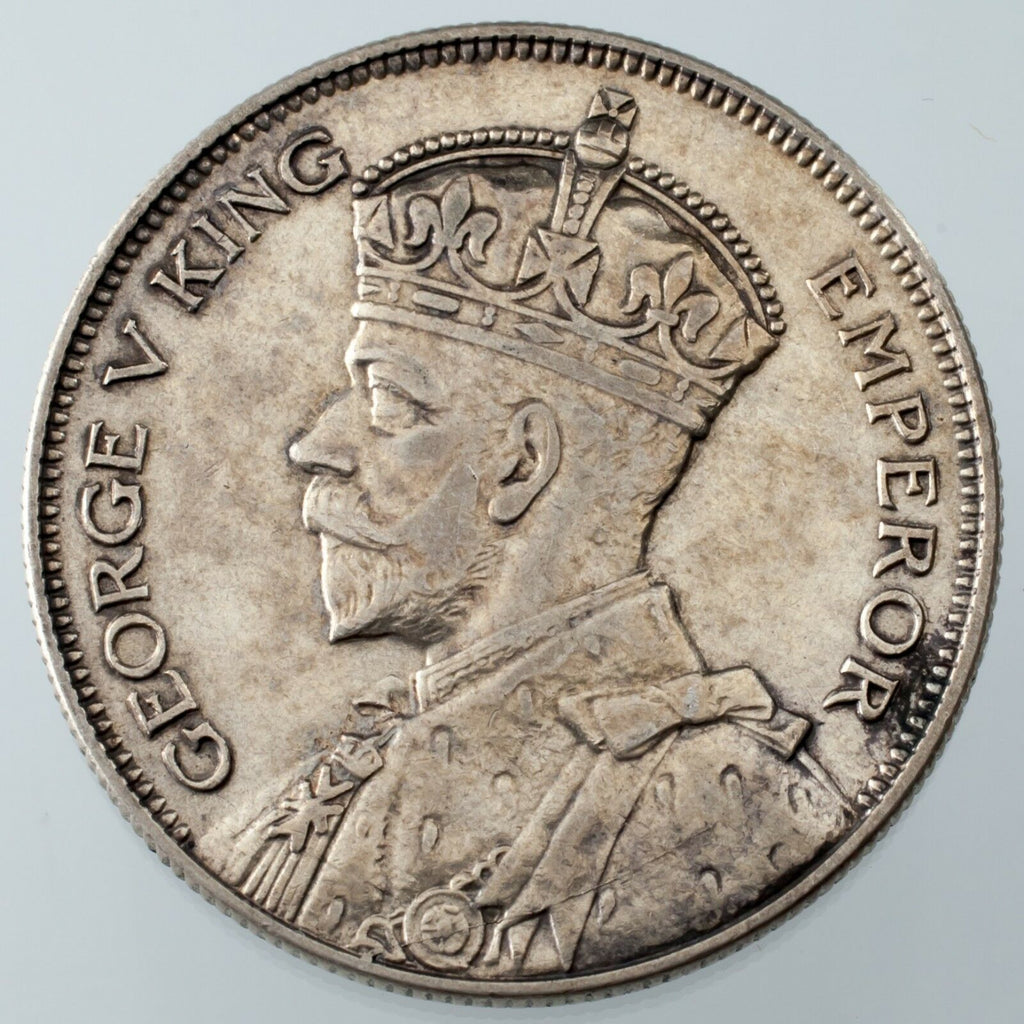1935 New Zealand 1/2 Crown KM #5 XF Condition