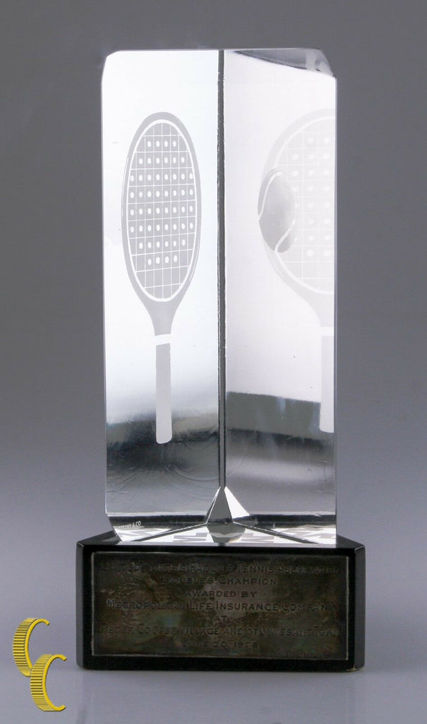 Tiffany & Company Paddle Tennis Association Double Championship Crystal Trophy