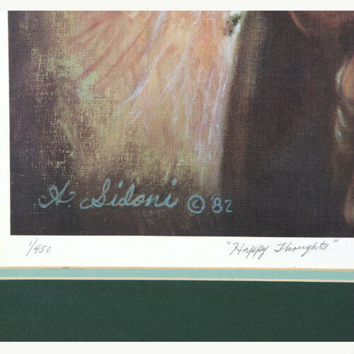 """Happy Thoughts"" By Anthony Sidoni 1982 Signed Limited Edition #1/450 Lithograph"