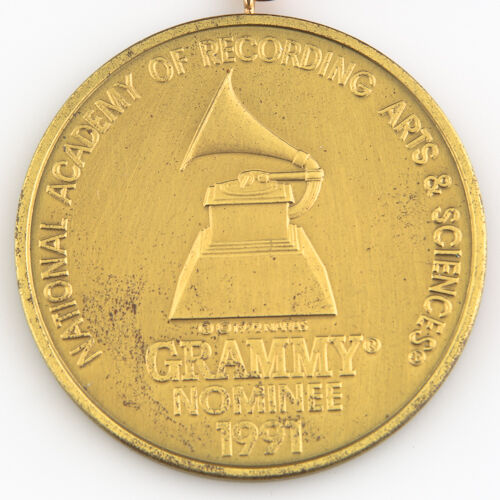 33rd Annual Grammy Award Nominee Medal - 1991 NARAS - w/ Red Satin Ribbon