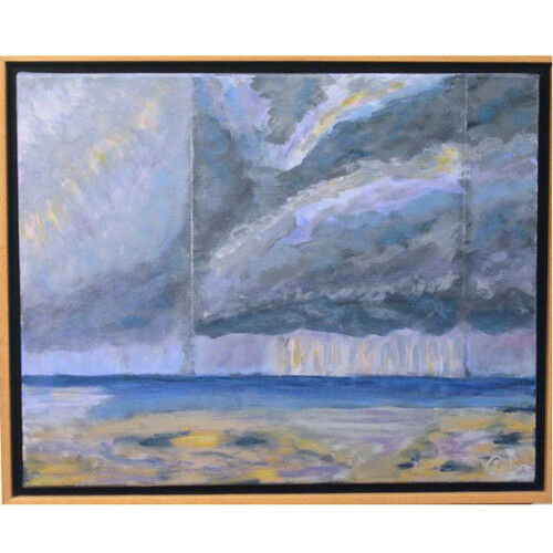 """Storm Clouds"" By Susan Soffer Cohn Acrylic Painting on Canvas 17 1/2""x21 1/2"""