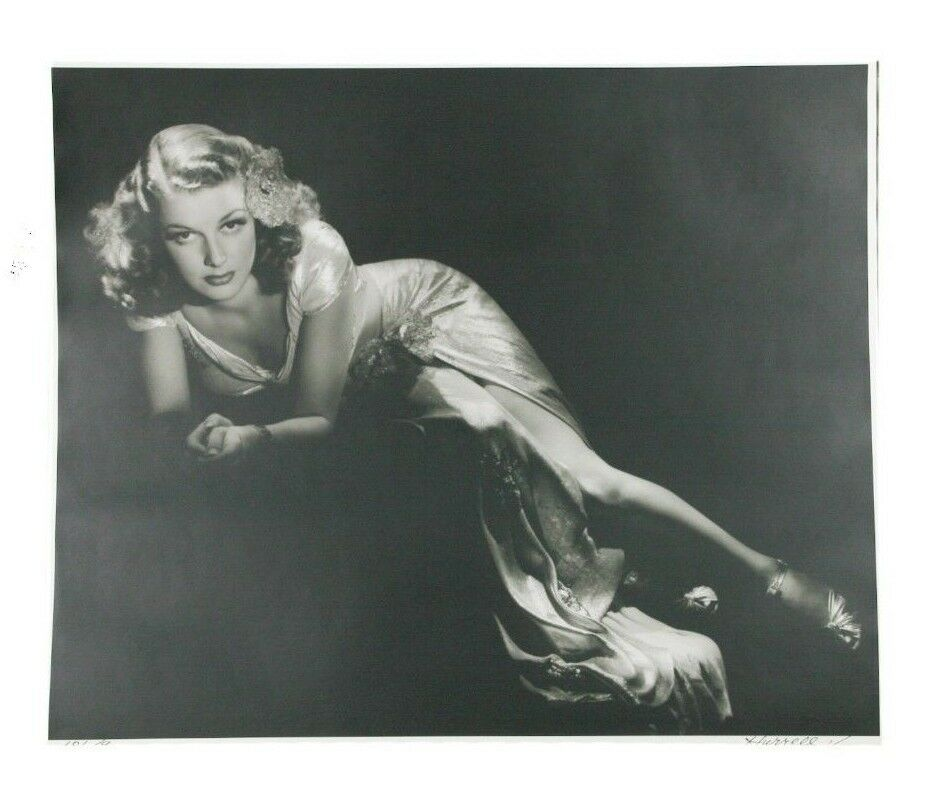 "Ann Sheridan by George Hurrell Signed Photographic Print LE of 190 24"" x 20"""