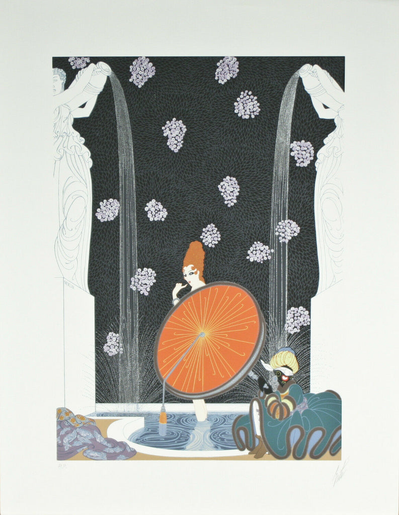 """Bath of the Marque"" by Erte Signed Artist's Proof AP Lithograph 24""x18 1/2"""